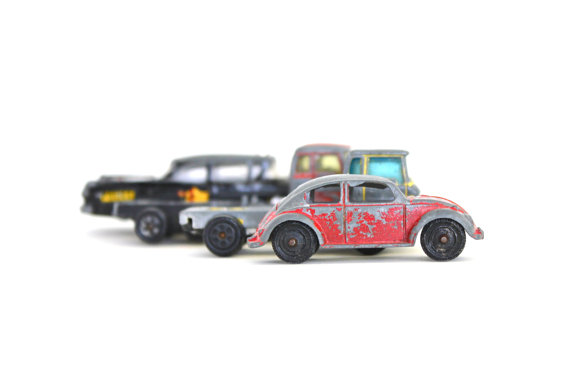 Traffic Jam Vintage Tin Cars