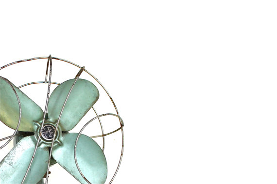 Cool Off green vintage fan