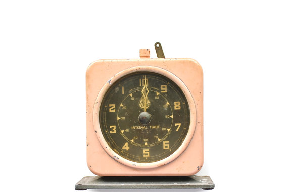 Stop Procrastinating Vintage Pink Shabby Chic Industrial Timer