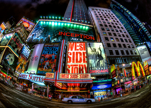 Times Square Fisheye