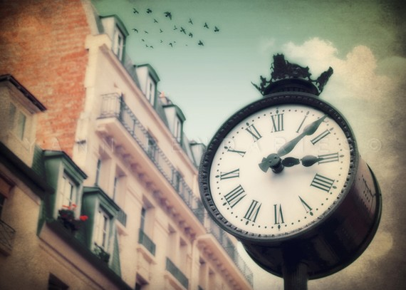 The clock number 01