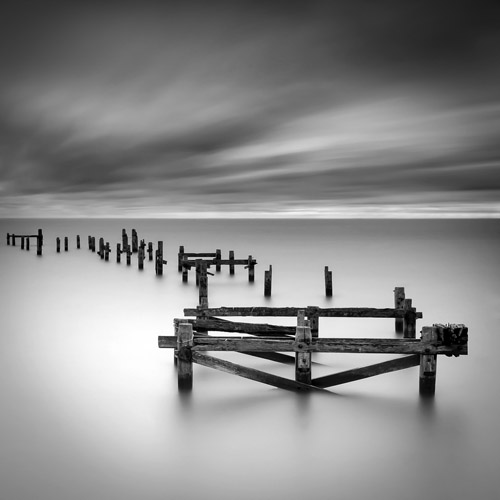 Long exposure of a broken pier in Swanage, England by Spencer Brown