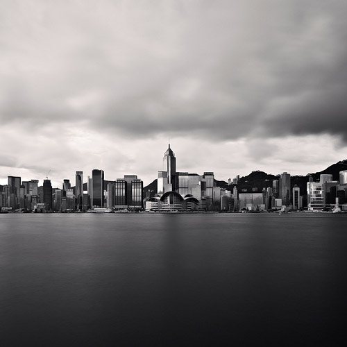 Black and white cityscape, fine art photography.