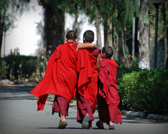 Friendship - Young Buddhist Monks in Bhutan