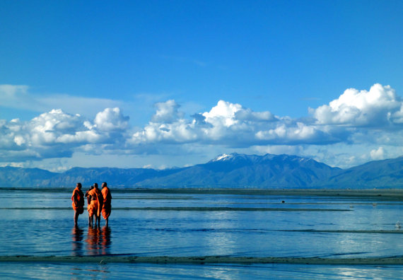 Monks at the Great Salt Lake