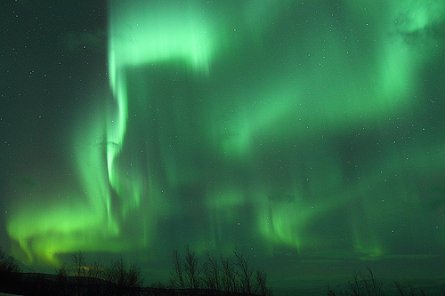 Explosion of Aurora Borealis in The Arctic Circle by nate2b