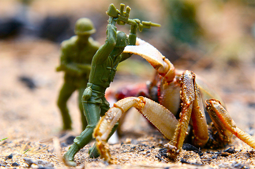 Attack of the Crab Monsters toy soldiers