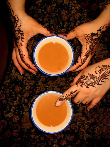 Samira and Farhats Hands with Chai