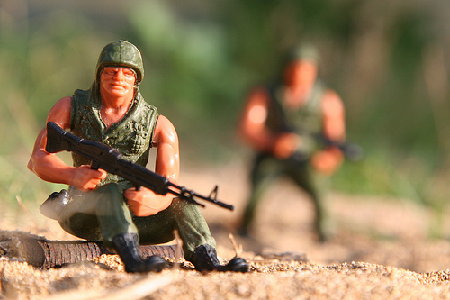 Mattel Heroes In Action toy soldiers
