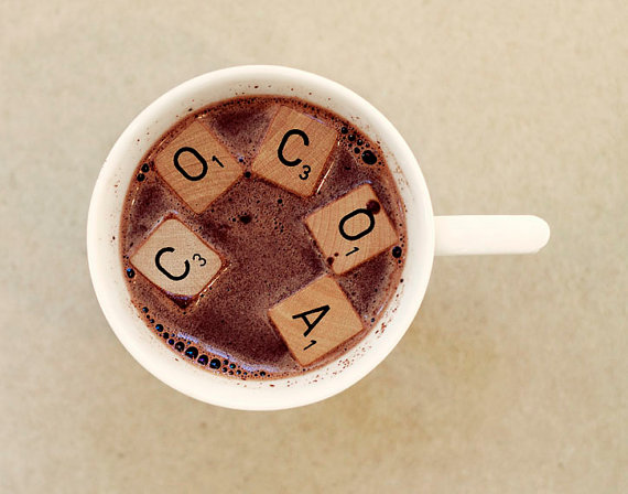 Scrabble Tile Hot Cocoa