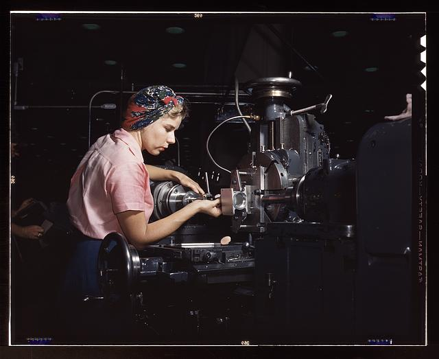 Woman machinist, Douglas Aircraft Company, Long Beach, Calif.