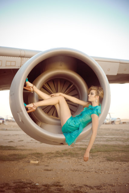 Pan Am high fashion haute couture photography airplane