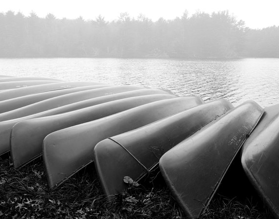Canoes in Winter Storage