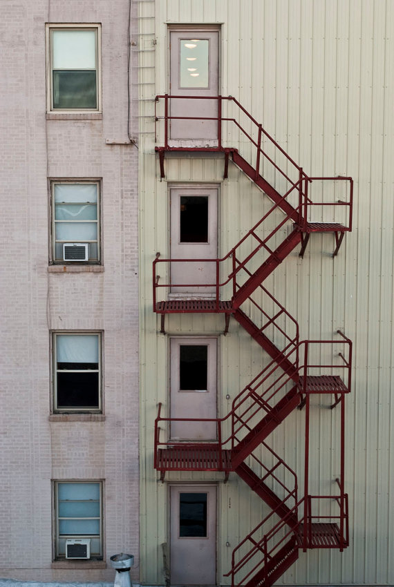 Red Staircase fire escape