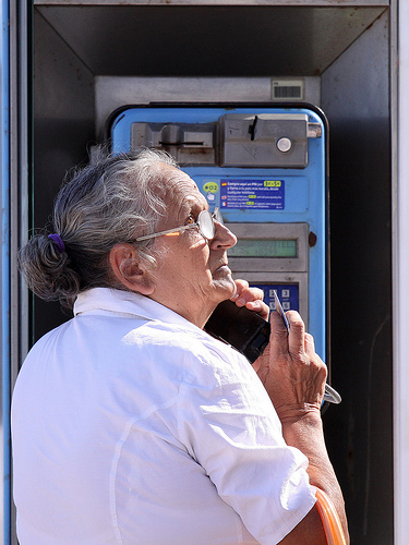 on hold pay phone