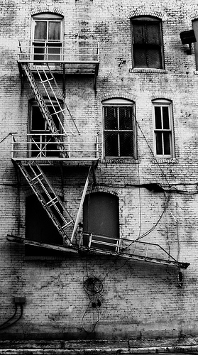 Fire Escape, Downtown Houston, Texas by Patrick Feller