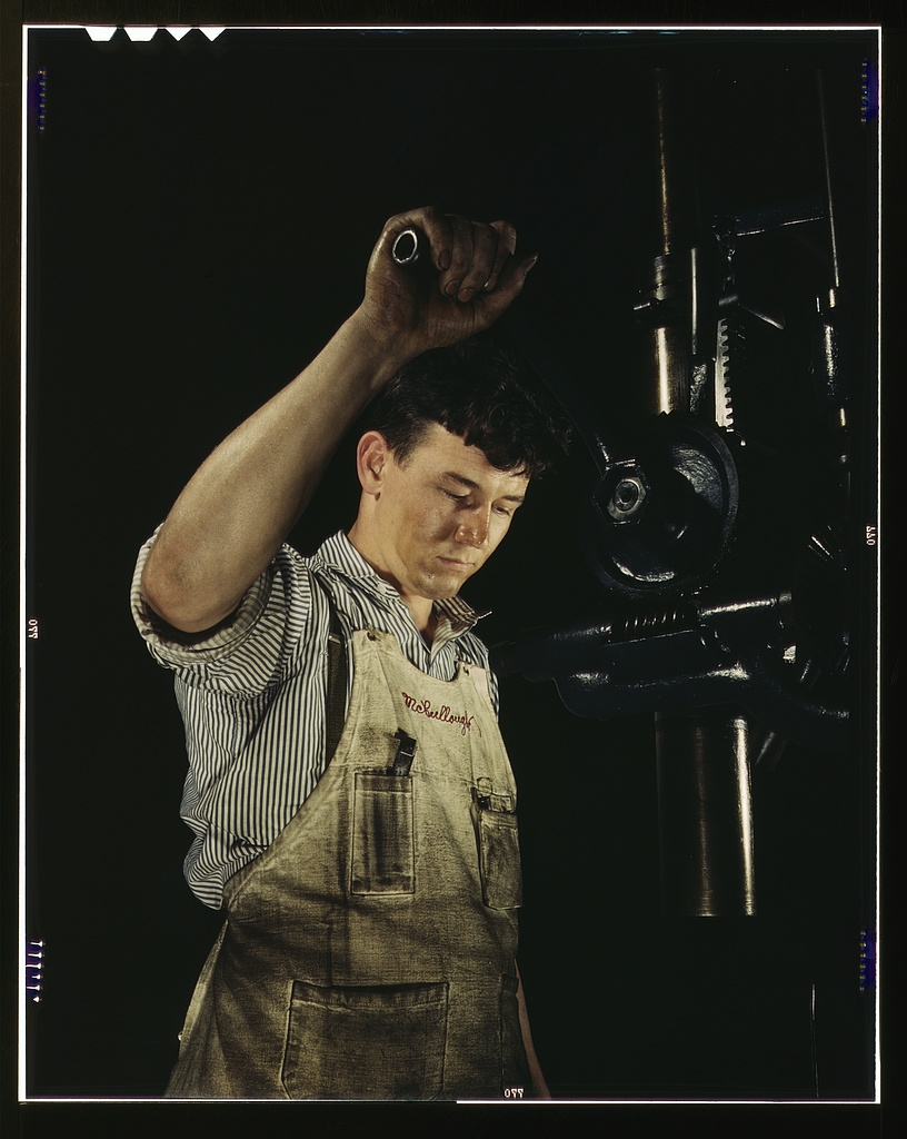 Drill press operator, Allegheny Ludlum Steel[e] Corp., Brackenridge, Pa.