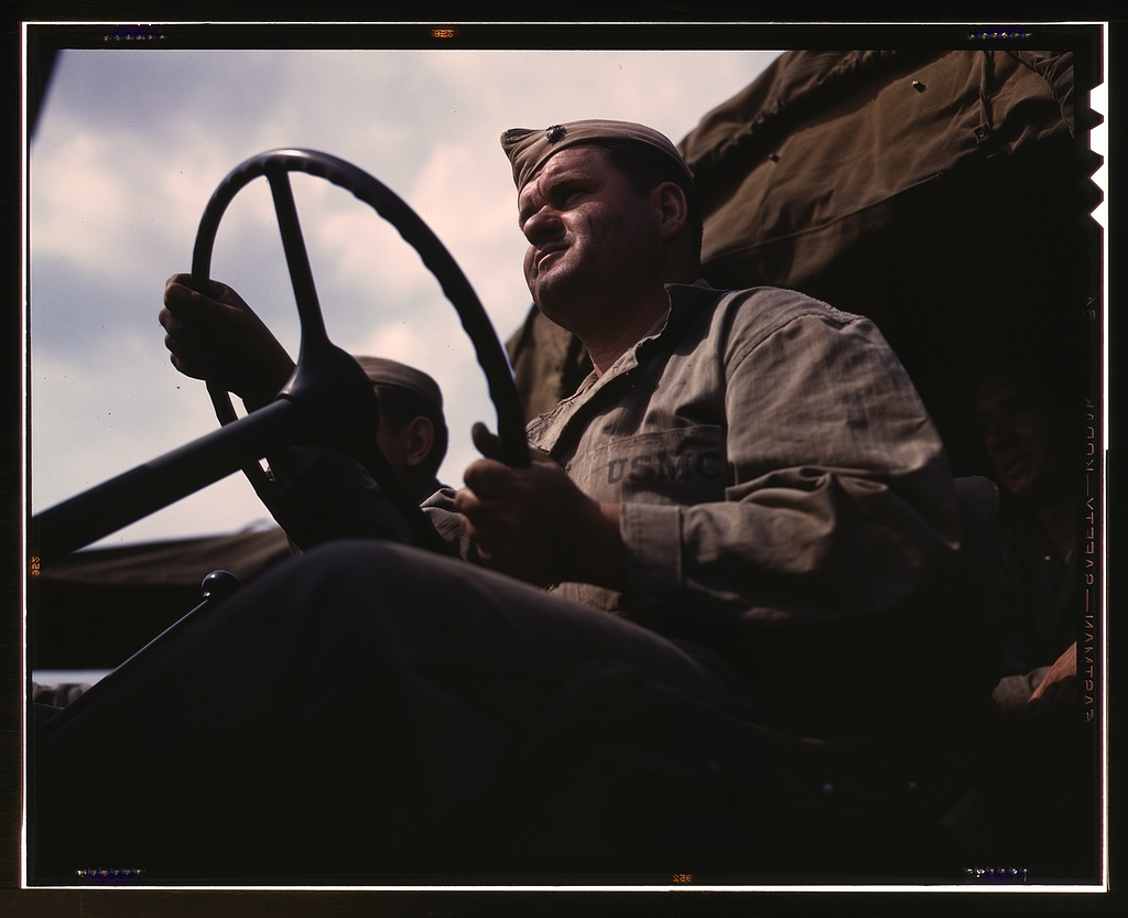 Driver of Marine truck at New River, N.C.