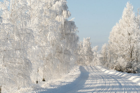 Winter Road. Latvia