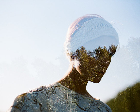 Echo double exposure portrait