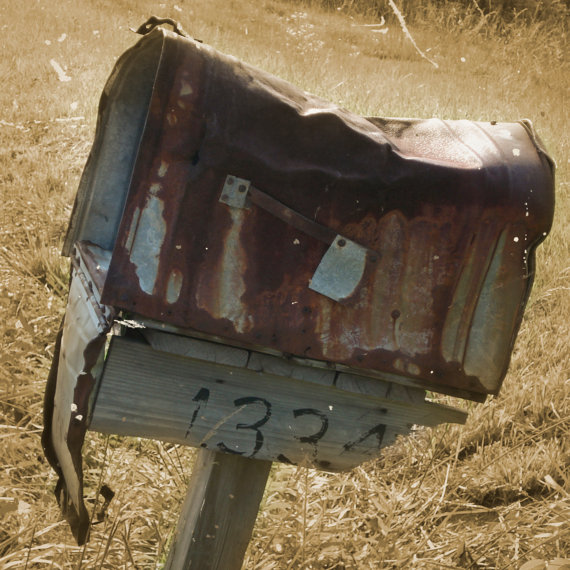 Checks In The old rusty Mail