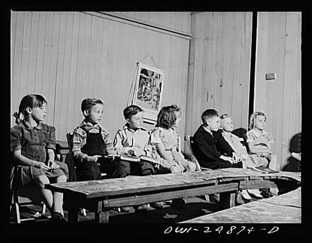 San Augustine, Texas. Children in Sunday school at the Baptist church