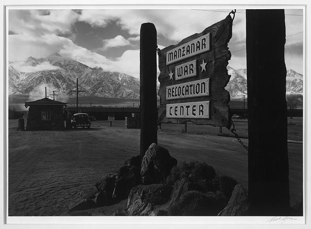 Entrance to Manzanar ansel adams