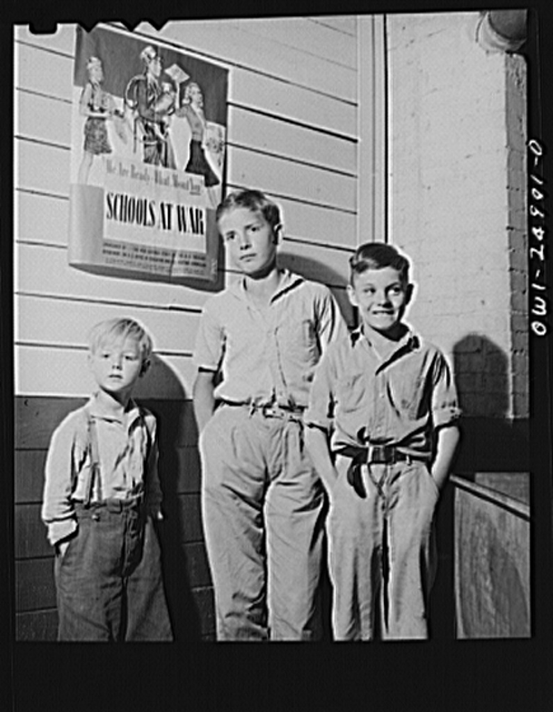 San Augustine, Texas. Rural school children