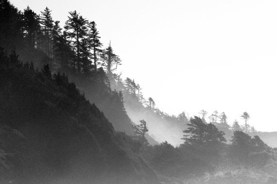 Land of Mist and Mystery black and white photography