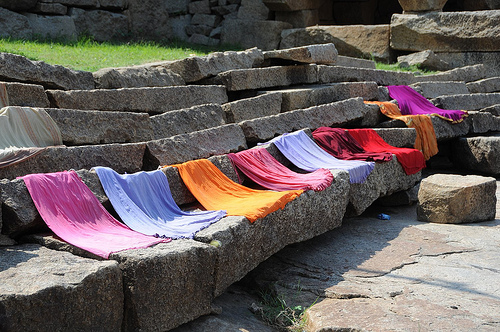 Saris drying
