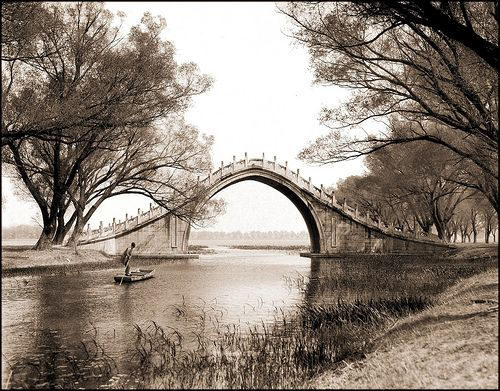 Jade Belt Bridge and Boat, Summer Palace, Peking, China