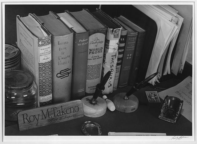 Roy Takeno's desk ansel adams