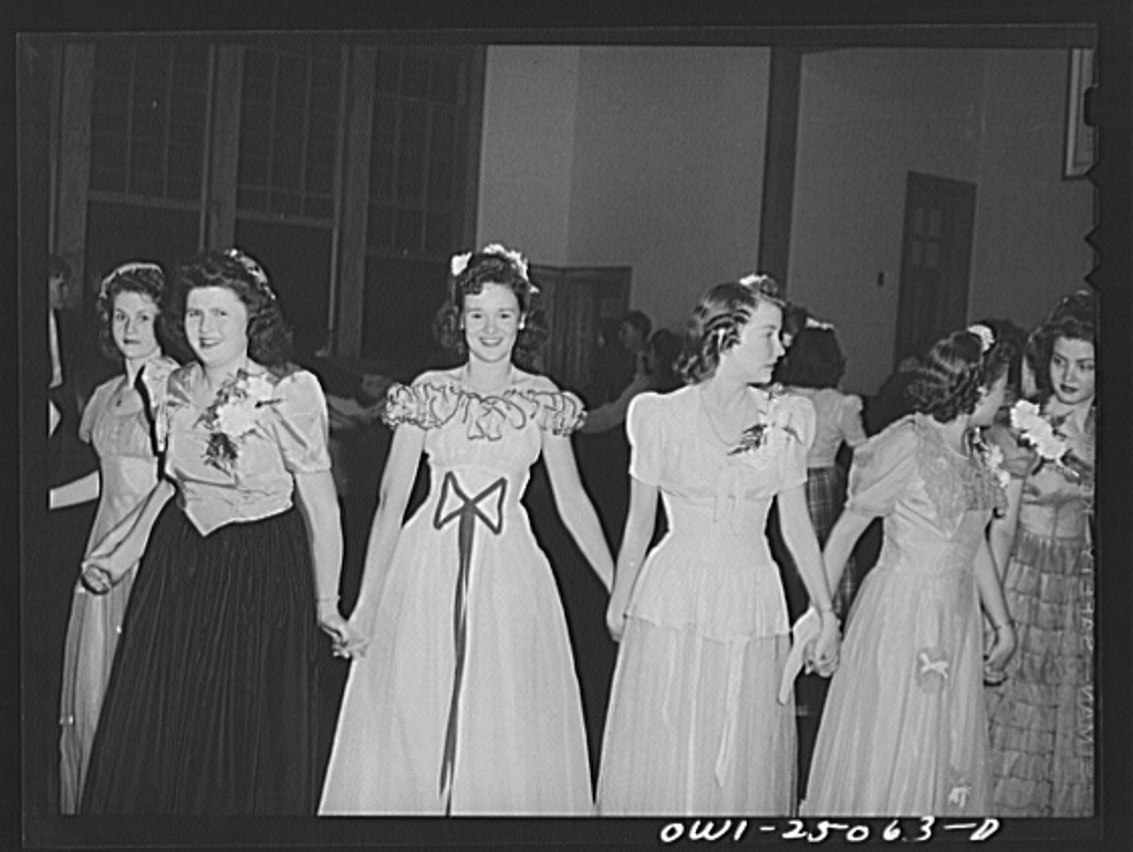 San Augustine, Texas. High school girls at the Spanish Club banquet