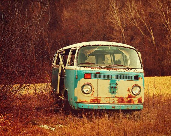Hippie Breakdown VW Van