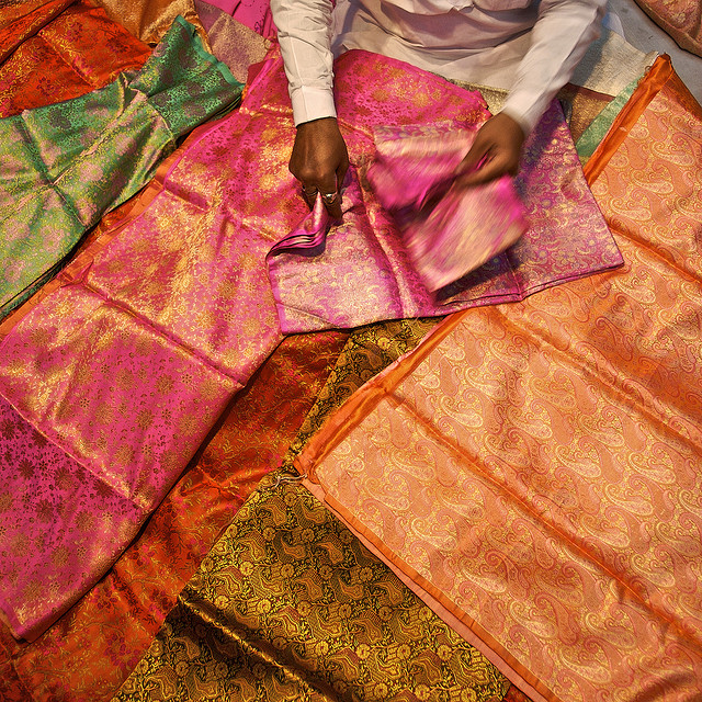 Sari Cloth Seller in New Delhi