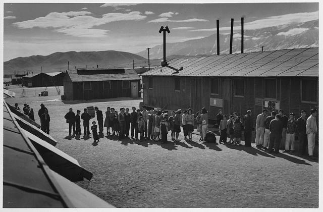 Mess line, noon ansel adams