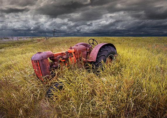 Abandoned Farm Tractor on the Prairie
