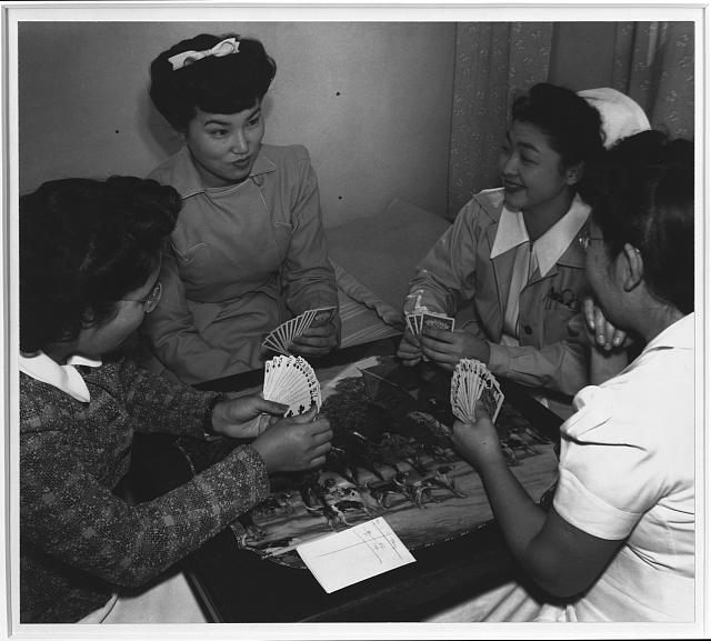 Bridge game, Nurse Hamaguchi and friends ansel adams