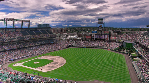 Mile High View baseball field