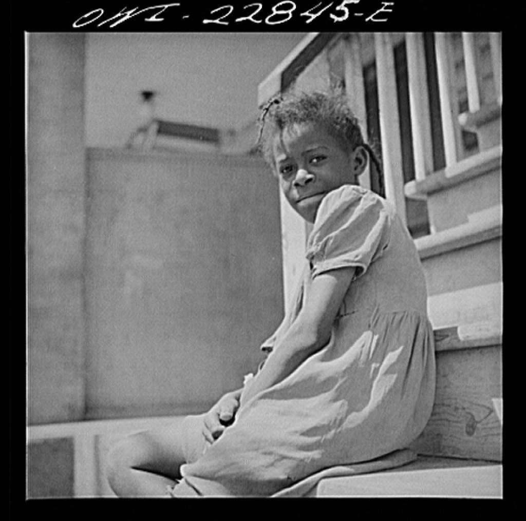 New Orleans, Louisiana. Little girl