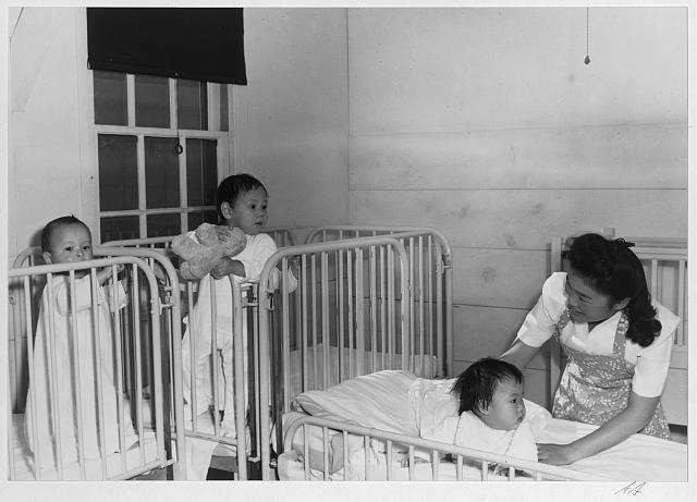Orphanage (with nurse) ansel adams