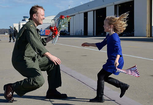 A pilot reunites with his daughter