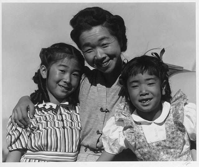 Mrs. Nakamura and 2 daughters (Joyce Yuki and Louise Tami) ansel adams