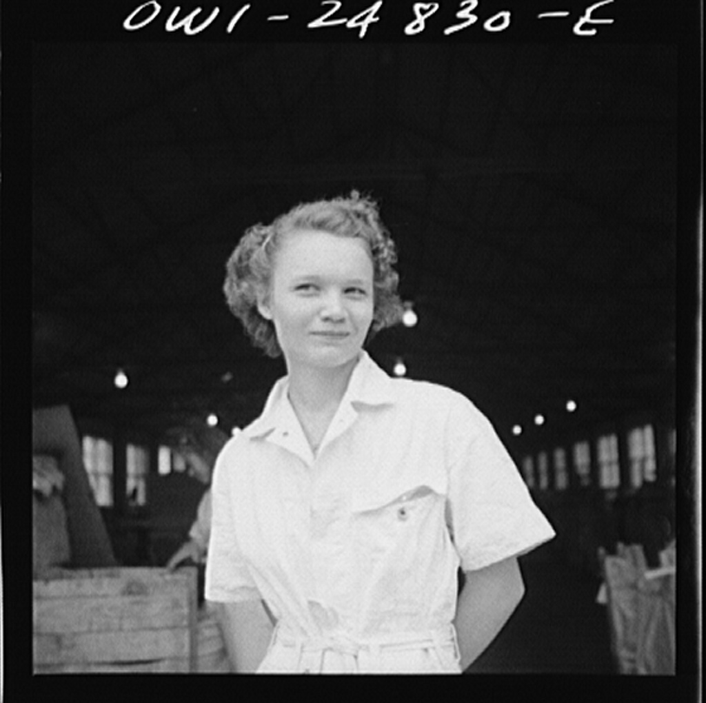 San Augustine, Texas. Girl at NYA (National Youth Administration) woodworking shop in the war training program