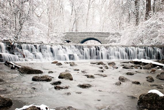 Snowy Stone Bridge