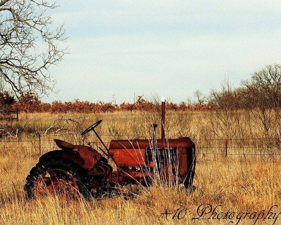 Somewhere Oklahoma tractor