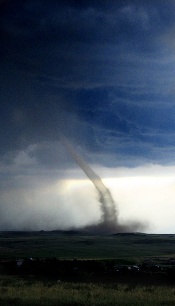 Tornado Hitting the Ground - Parker, Colorado