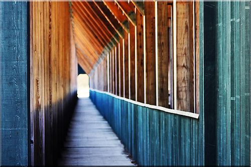 Passageway covered bridge