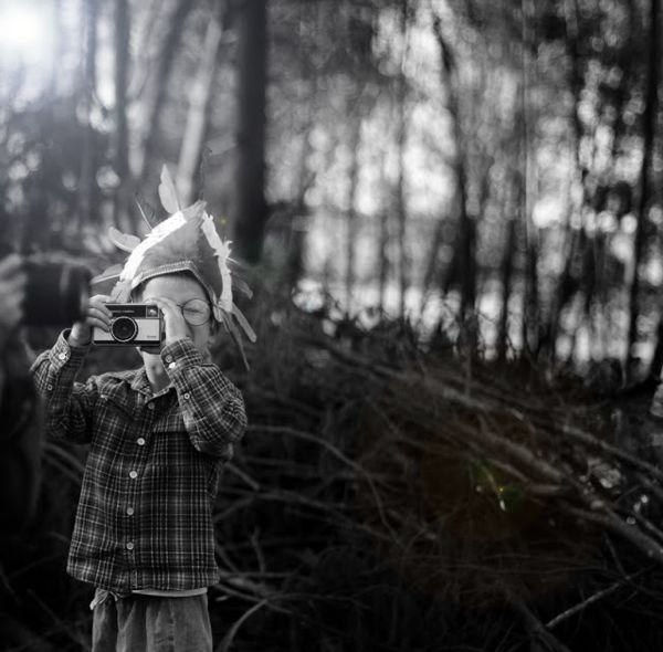 kid with camera