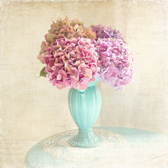 Pretty flower bouquets shabby chic photography by sylvia cook flowers in a vase mightylinksfo Gallery